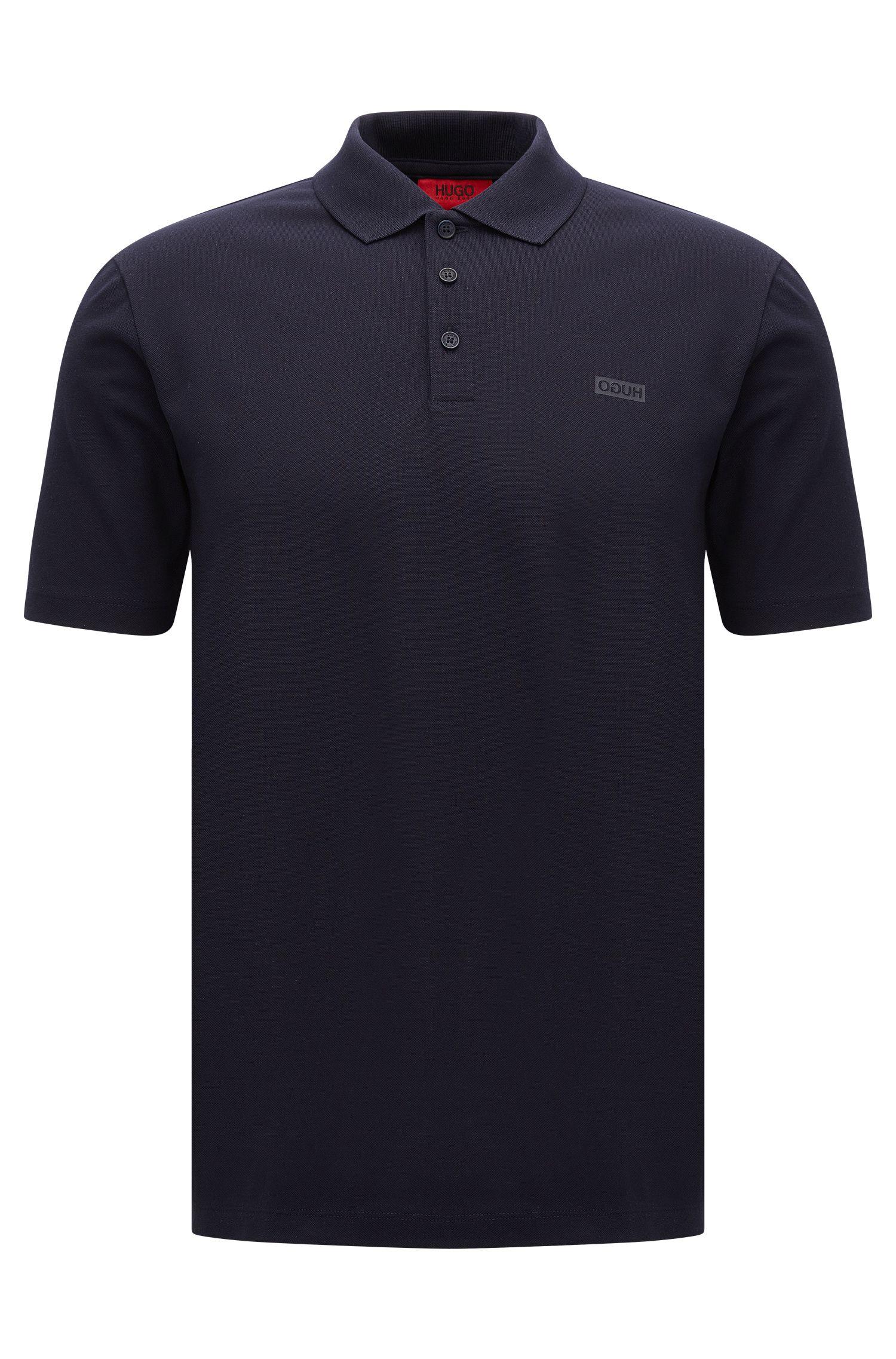 Piqué cotton polo shirt with reverse logo