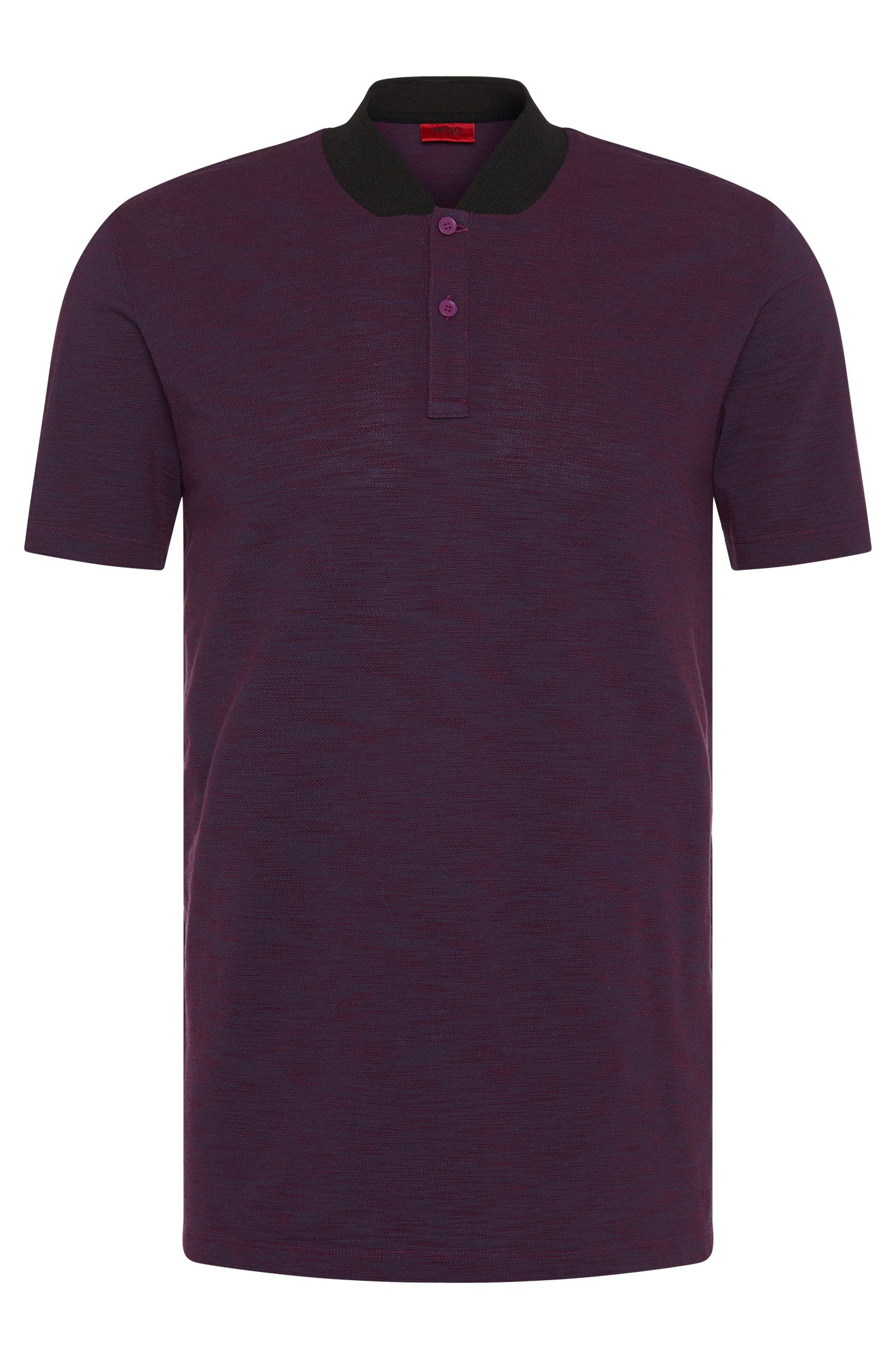 Mottled slim-fit polo shirt in pure cotton: 'Datherton'