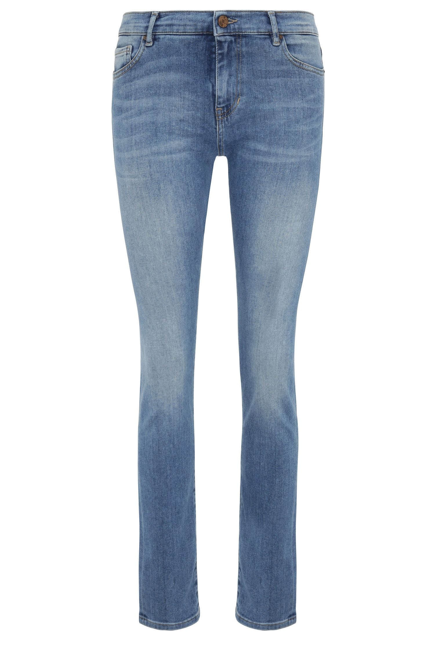Jeans slim fit in misto cotone elasticizzato a vita alta: 'Orange J21'