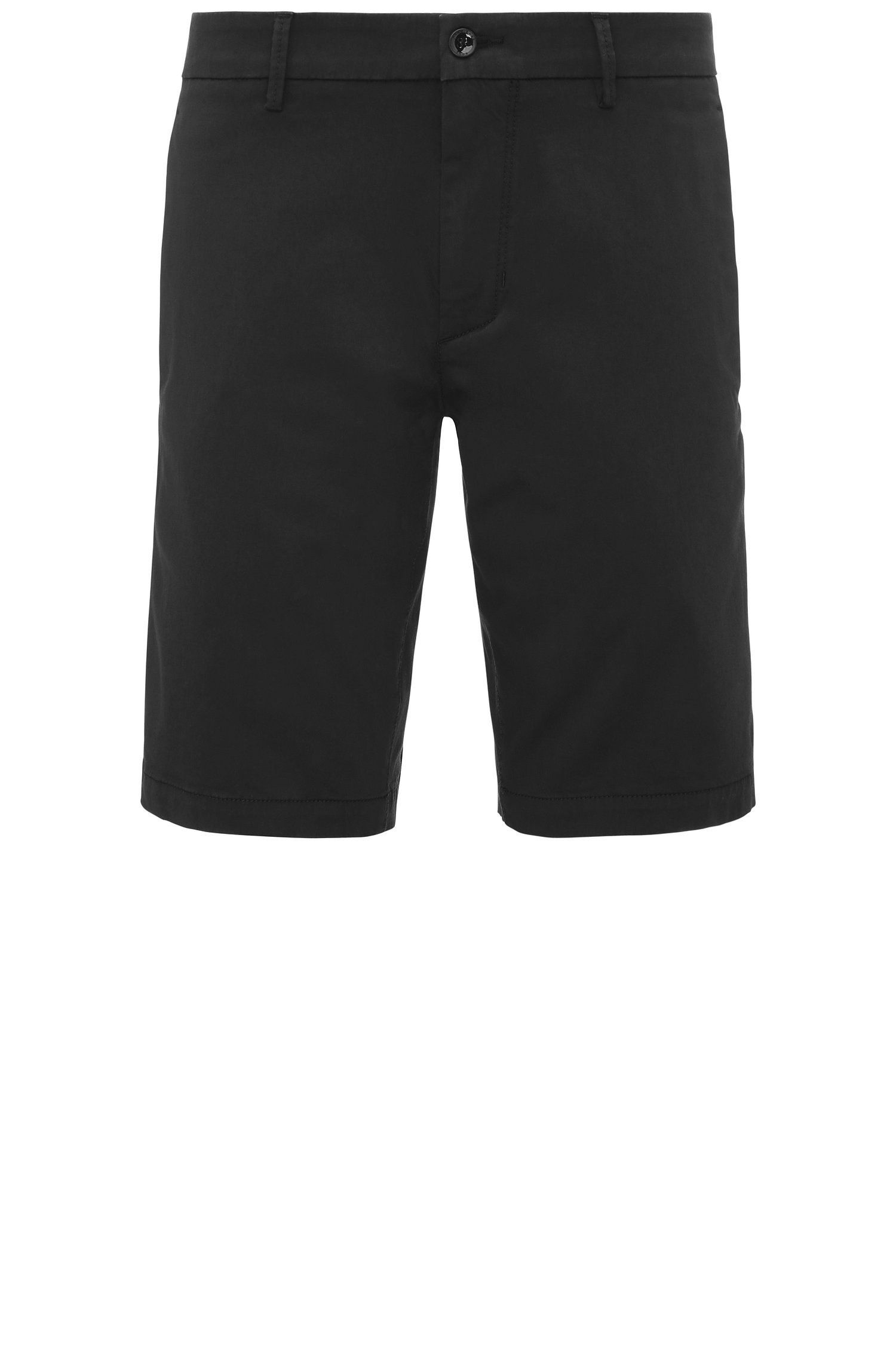 Slim-Fit Shorts aus Material-Mix
