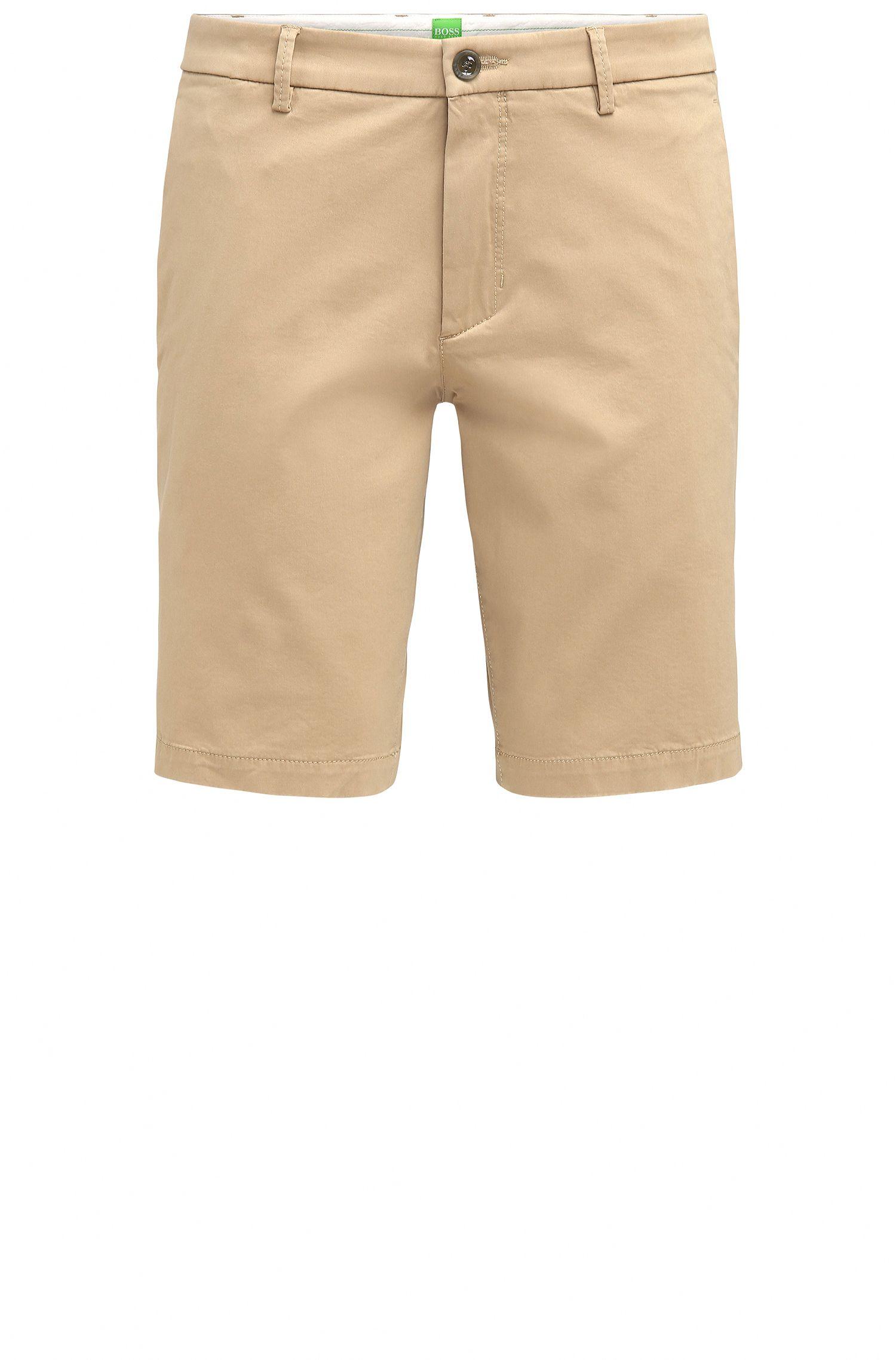 Pantaloncini corti slim fit in tessuto effetto satin