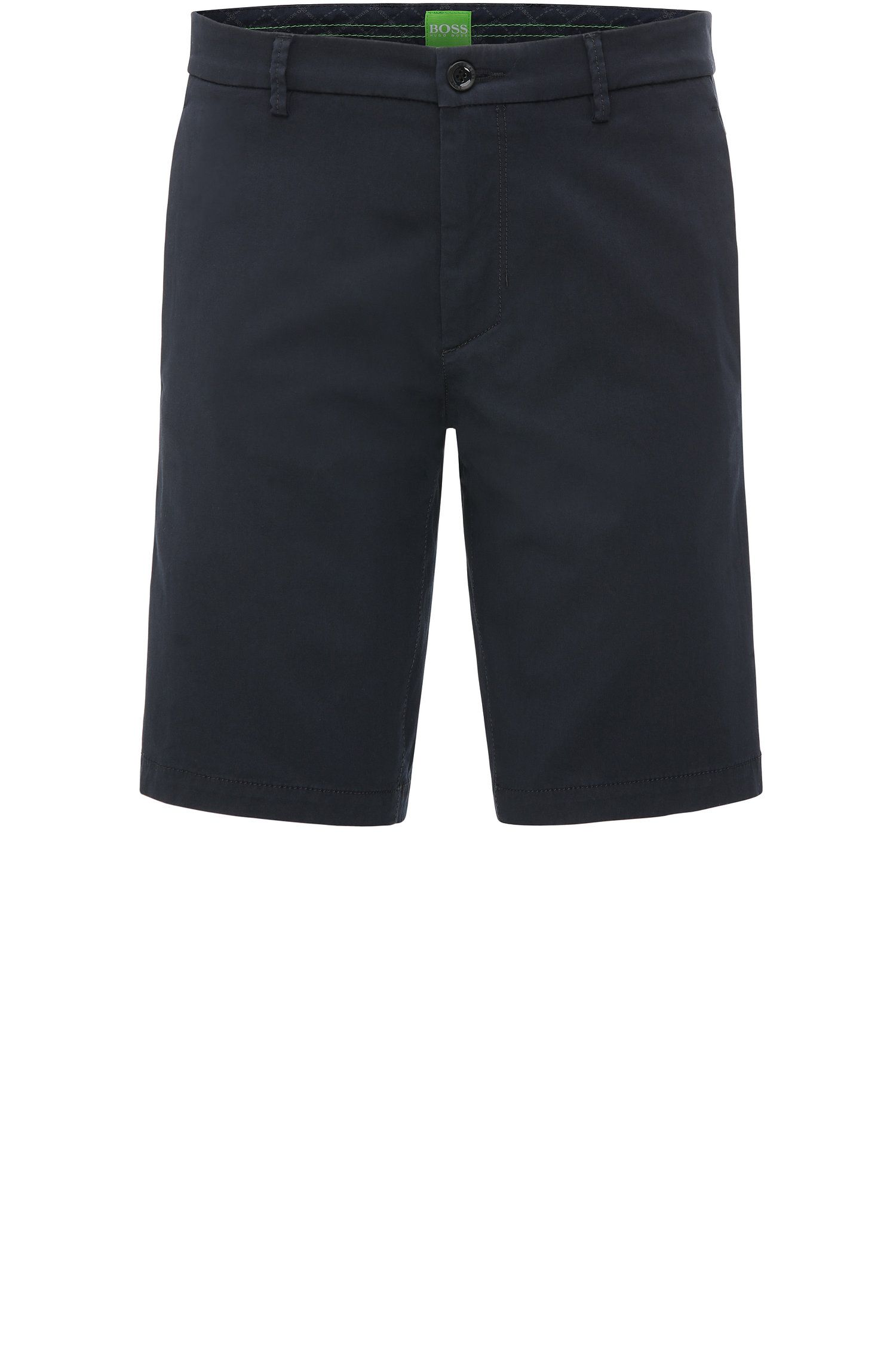 Slim-fit shorts in satin-effect fabric