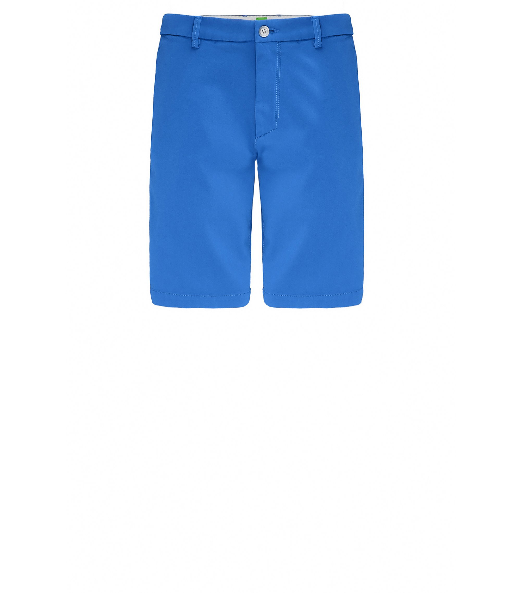 Slim-Fit Shorts aus Material-Mix, Blau