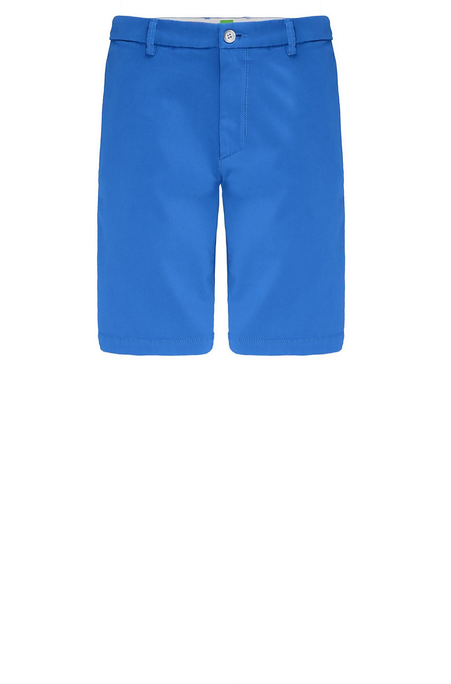 Shorts slim fit en tejido con efecto satinado