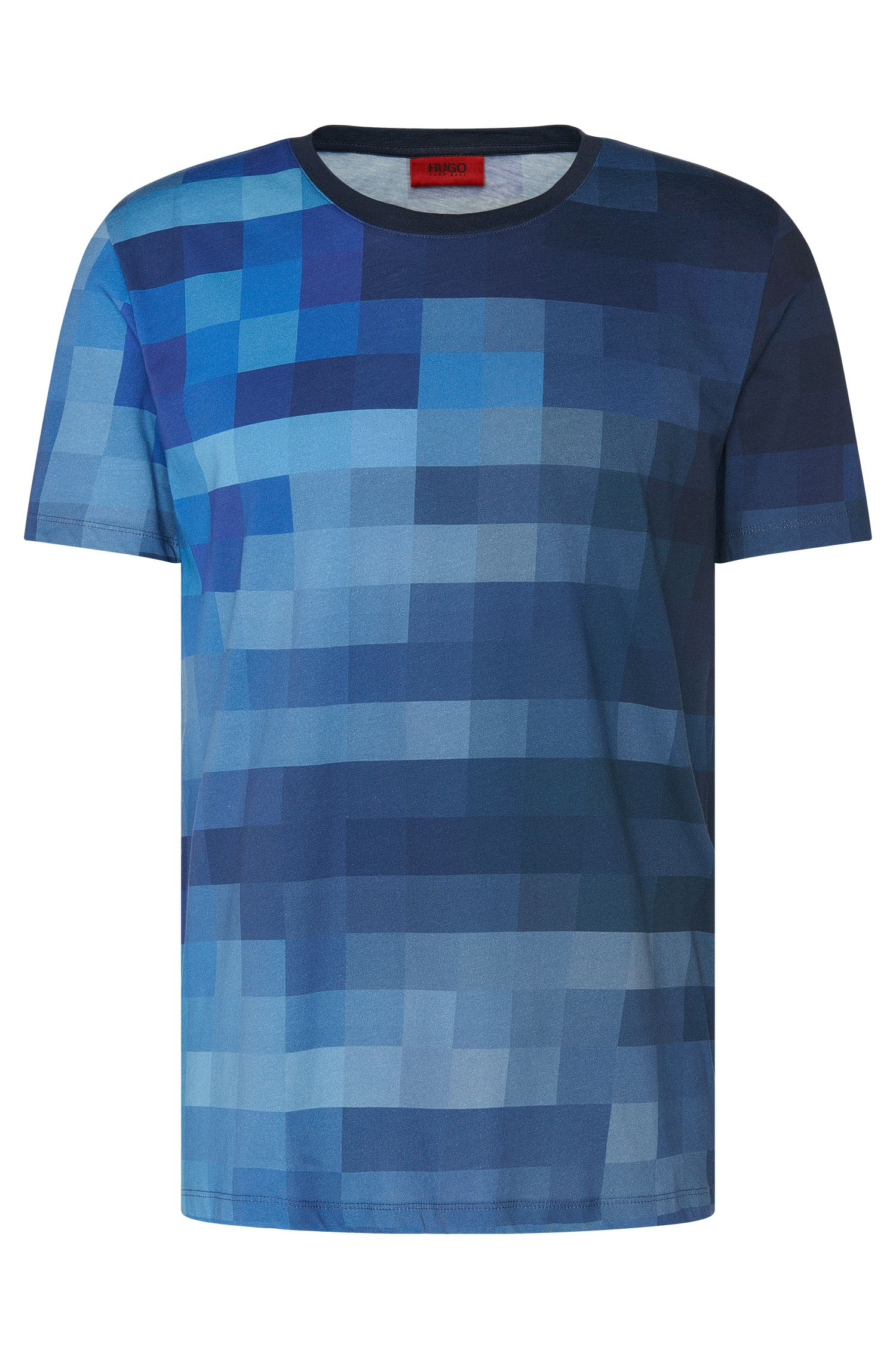Gemustertes Relaxed-Fit T-Shirt aus Baumwolle: 'Diffuse'