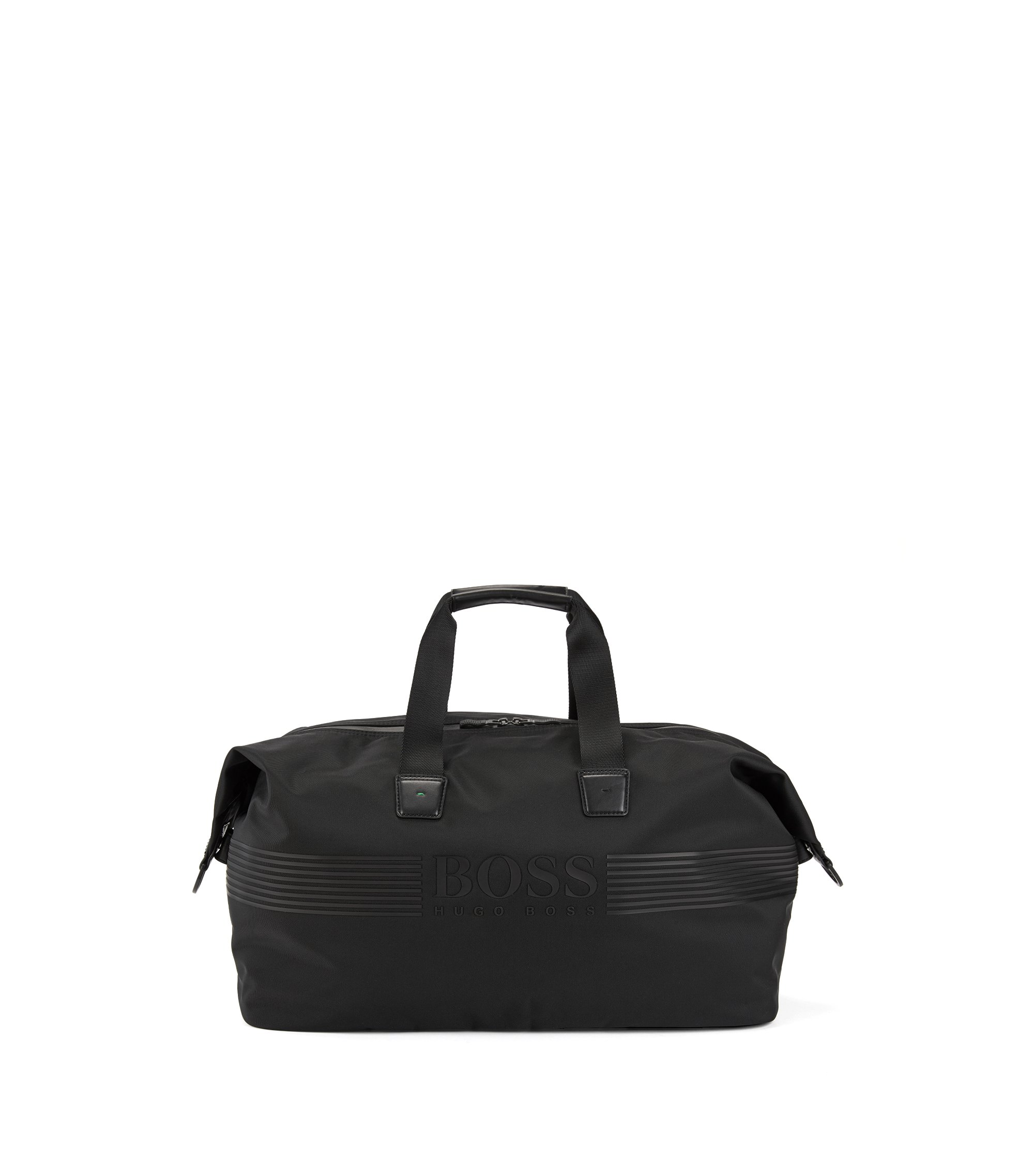 Nylon holdall with waterproof zip, Black