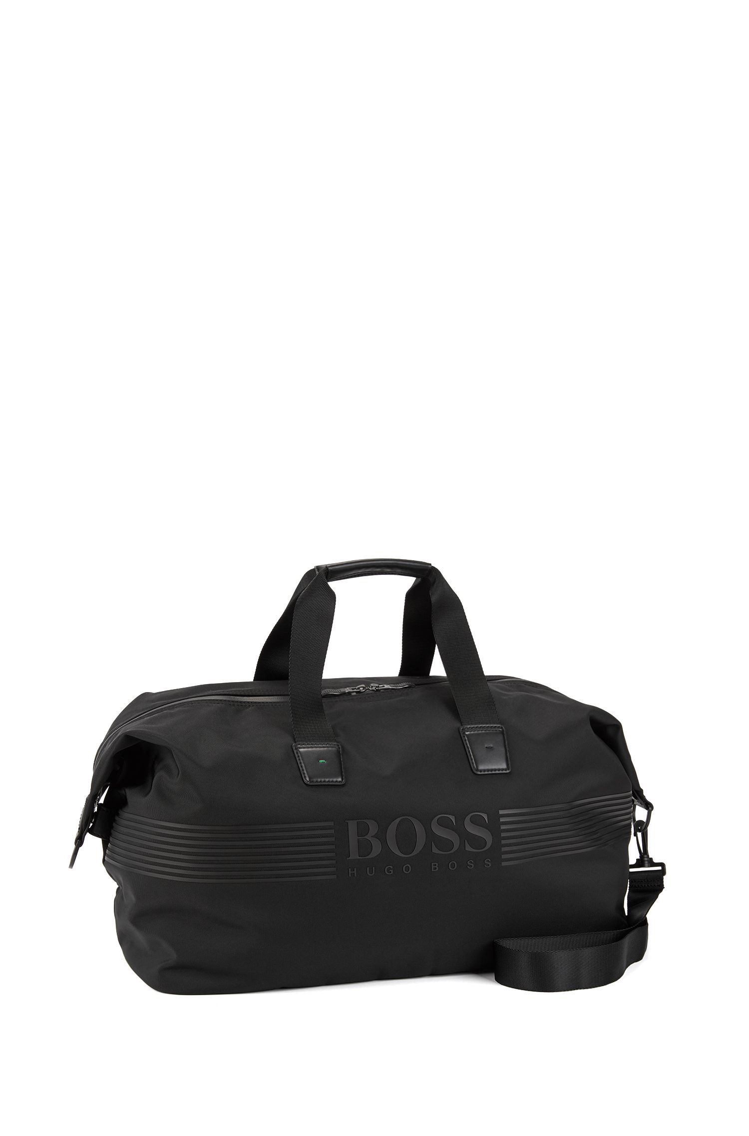 Nylon holdall with waterproof zip