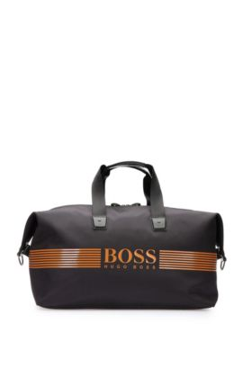 Nylon holdall with waterproof zip, Anthracite