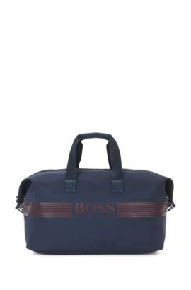 Nylon holdall with waterproof zip, Dark Blue