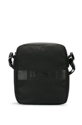 Reporter bag in nylon with contrasting trim: 'Pixel_NS zip', Black
