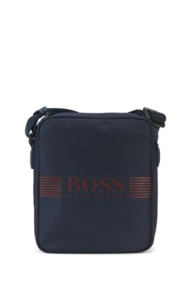 Nylon reporter bag with flap, Dark Blue