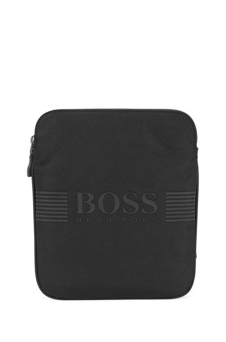 Cross-body bag in technical fabric, Black