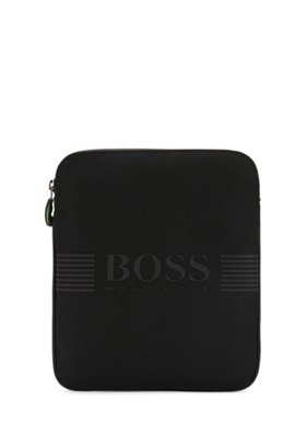 Cross-body bag in technical fabric, Black