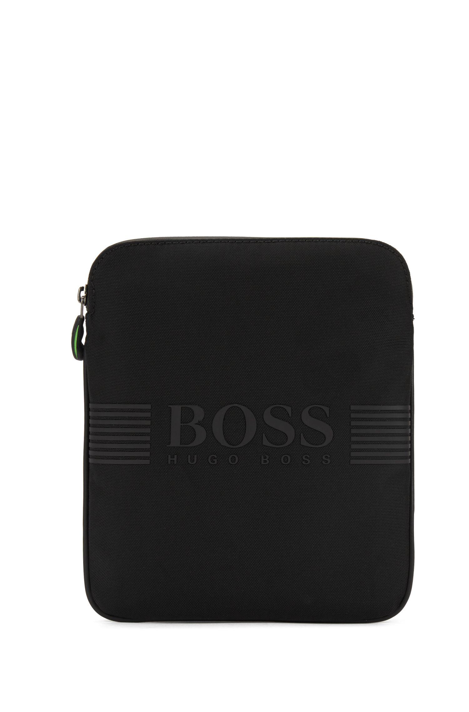 Cross-body bag in technical fabric