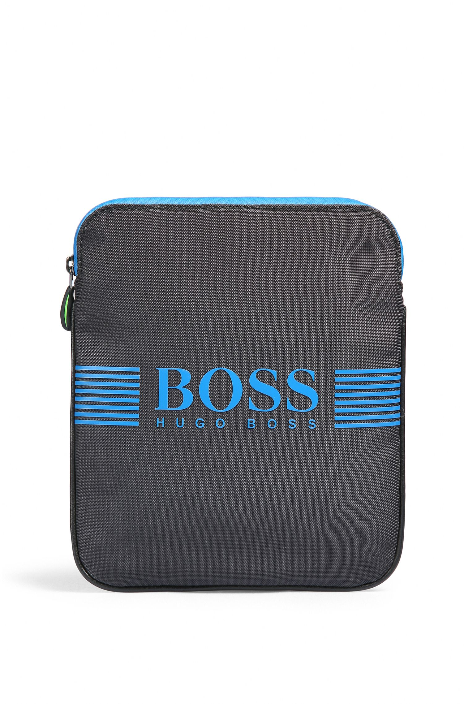 Cross-body bag in technical fabric