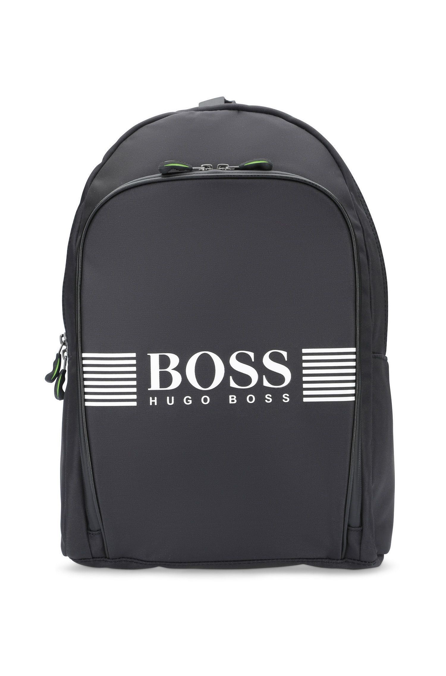 Nylon backpack with statement logo detail