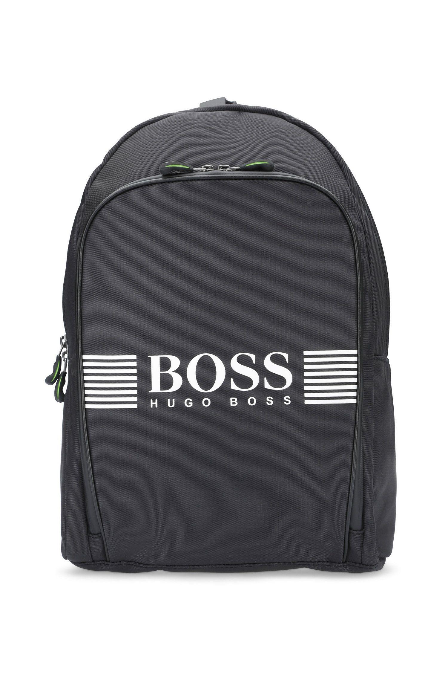 Rucksack aus Nylon mit großem Logo-Detail von BOSS Green