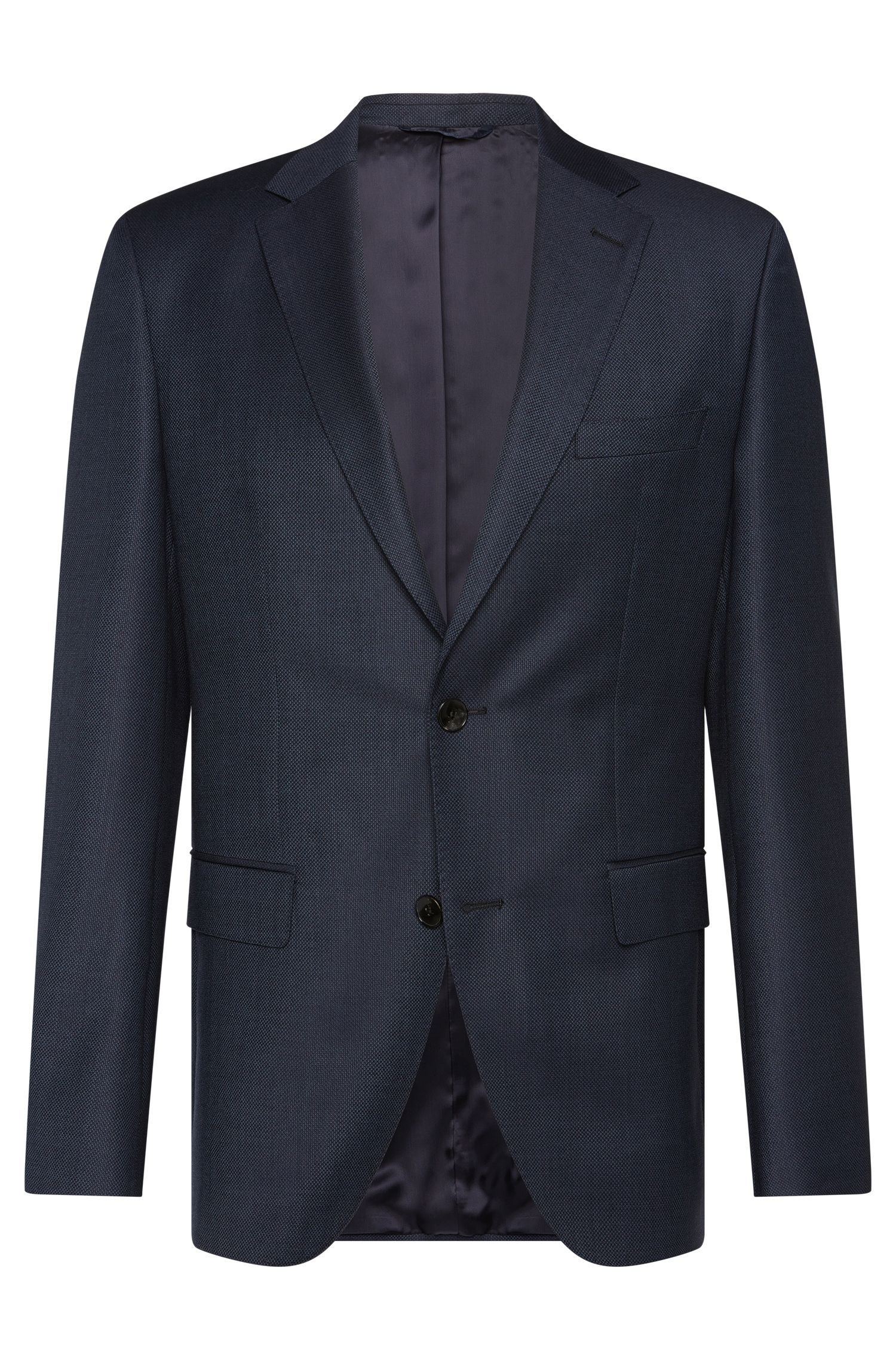 Regular-fit jacket in finely textured new wool: 'Jeen1'