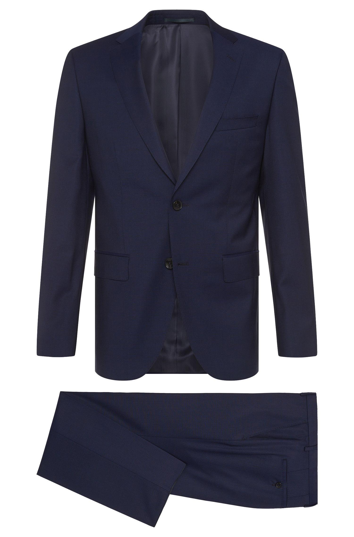 Regular-Fit Anzug aus Schurwoll-Mix mit Seide: 'Johnstons2/Lenon'