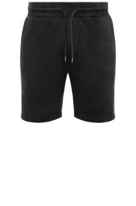 Regular-Fit Shorts aus Baumwolle mit Used-Waschung: ´Syd`, Schwarz