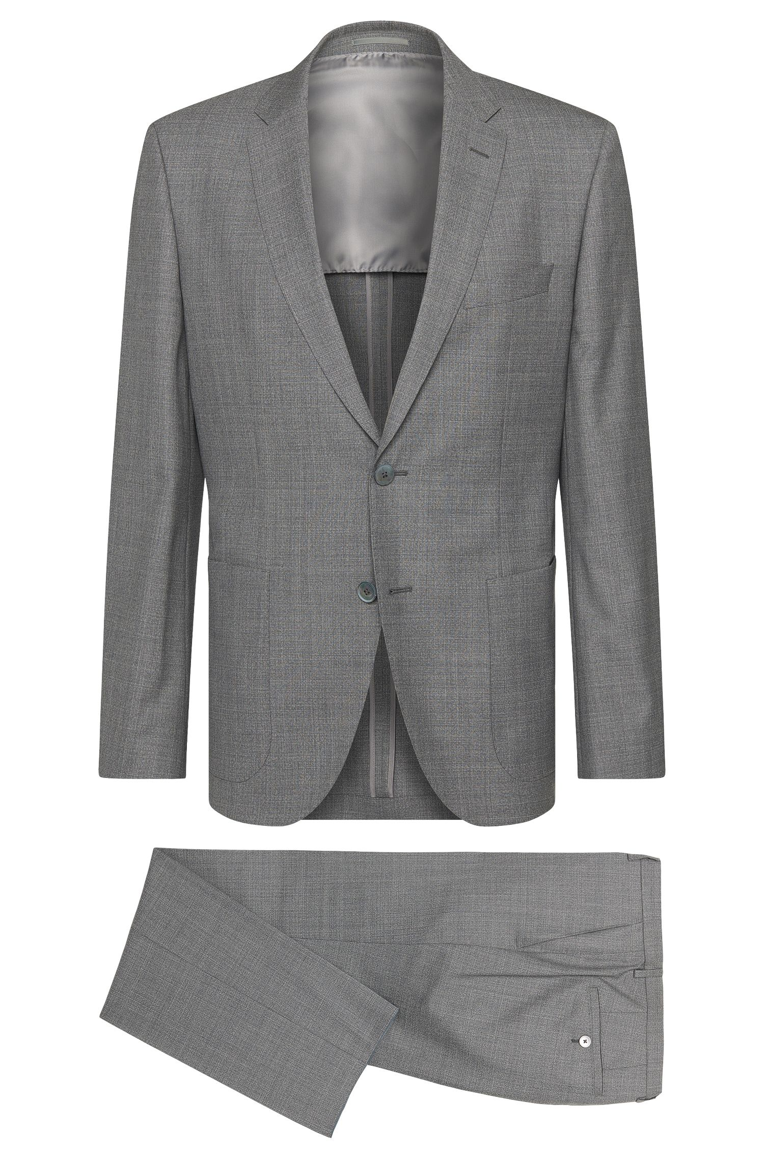 Regular-fit suit in new wool with mother-of-pearl buttons: 'Janon/Lenon'