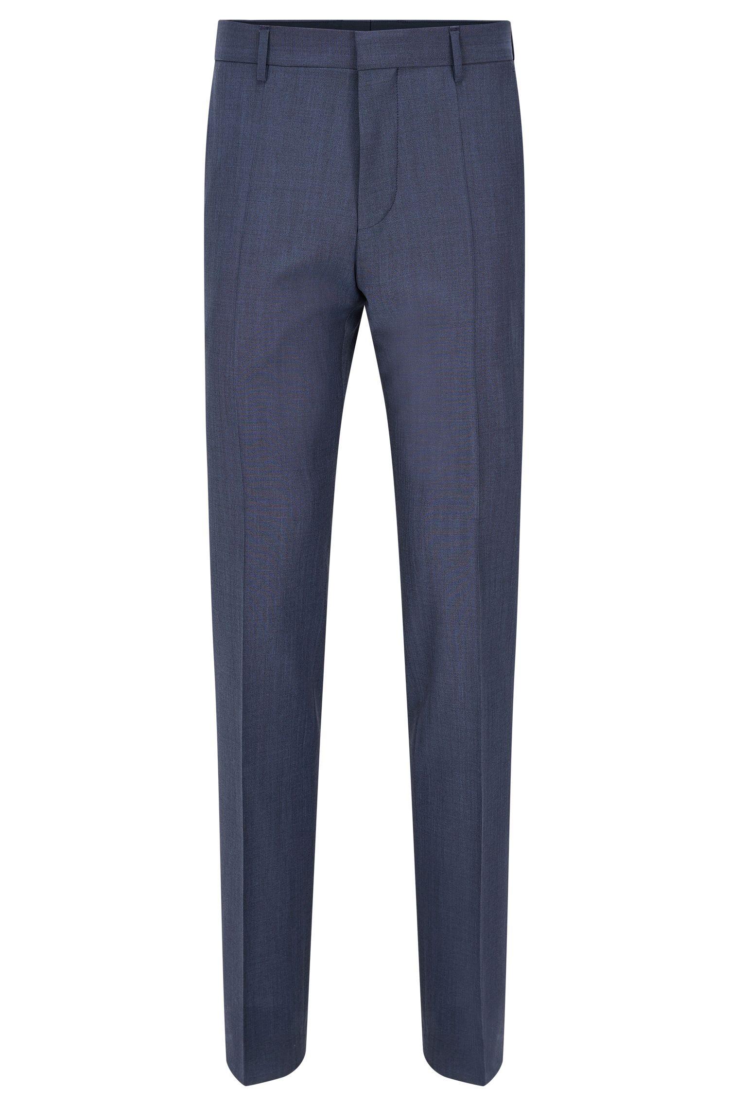Pantalón con raya slim fit en mezcla de lana virgen con mohair: 'Genesis2'
