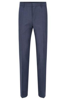 Pantalón con raya slim fit en mezcla de lana virgen con mohair: 'Genesis2', Azul oscuro