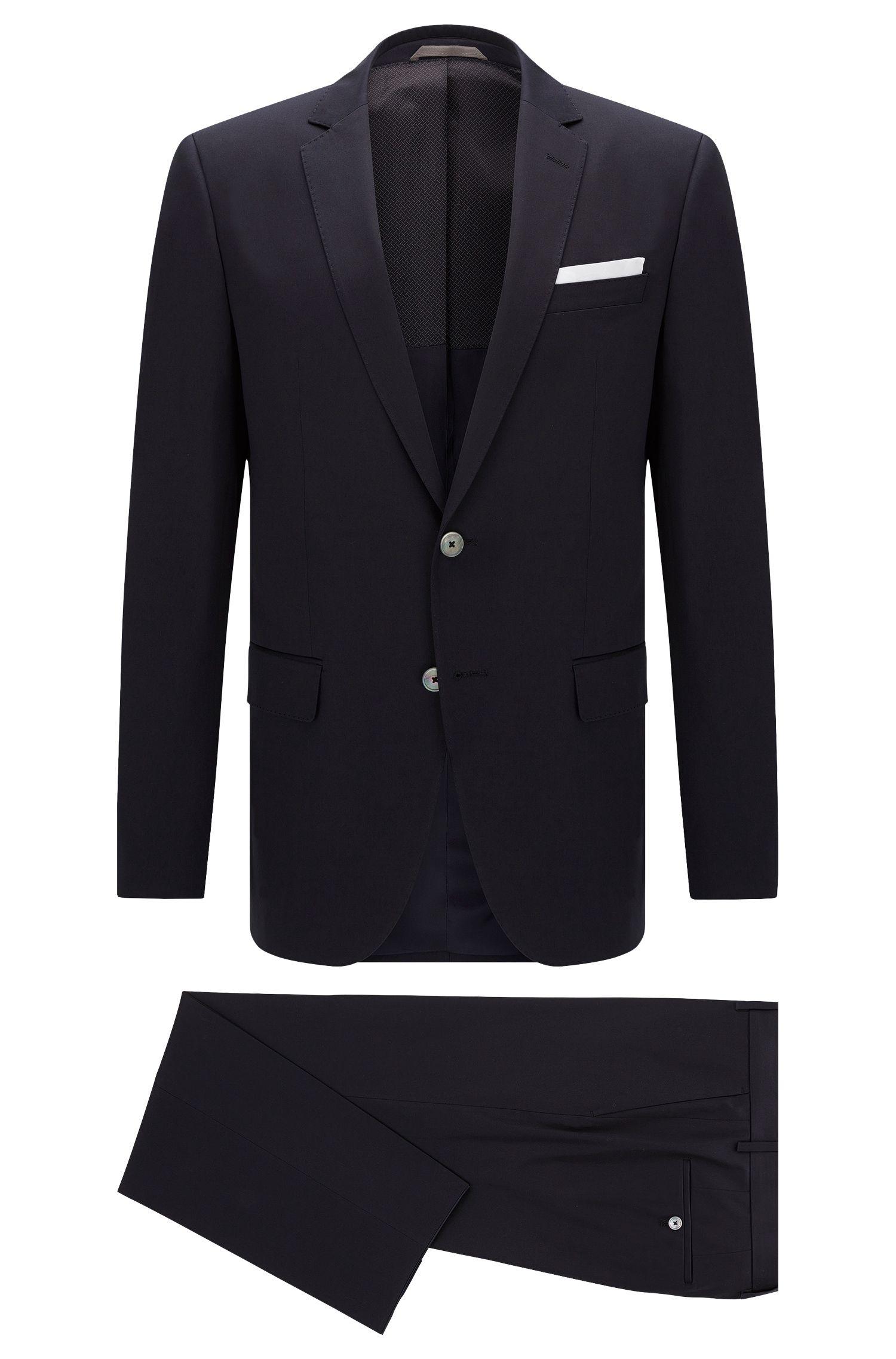 Slim-Fit Anzug aus Stretch-Baumwolle mit Perlmuttknöpfen: 'Hutson4/Gander1'