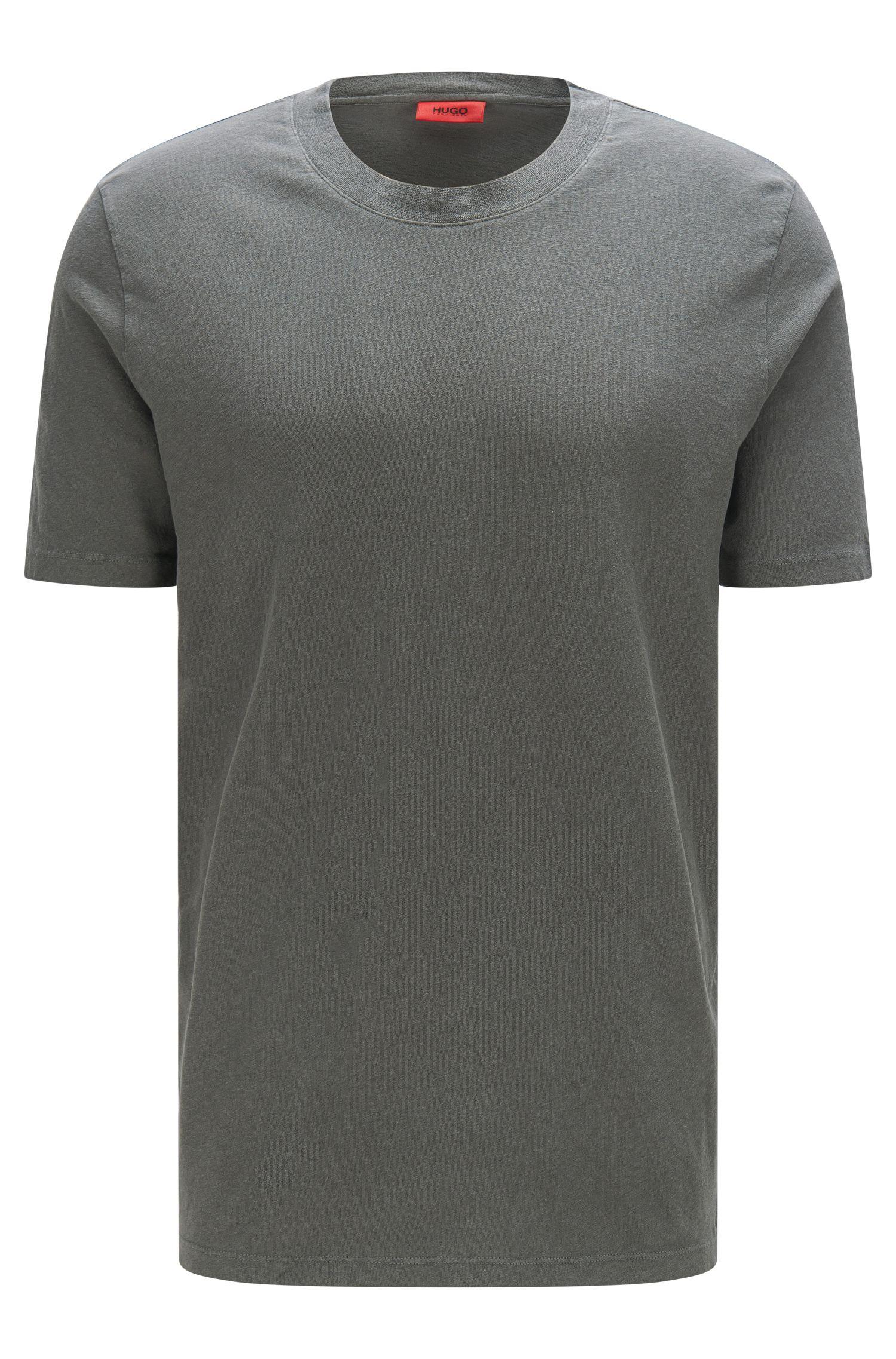 Relaxed-Fit T-Shirt aus Baumwoll-Mix mit Leinen: 'Dremont'