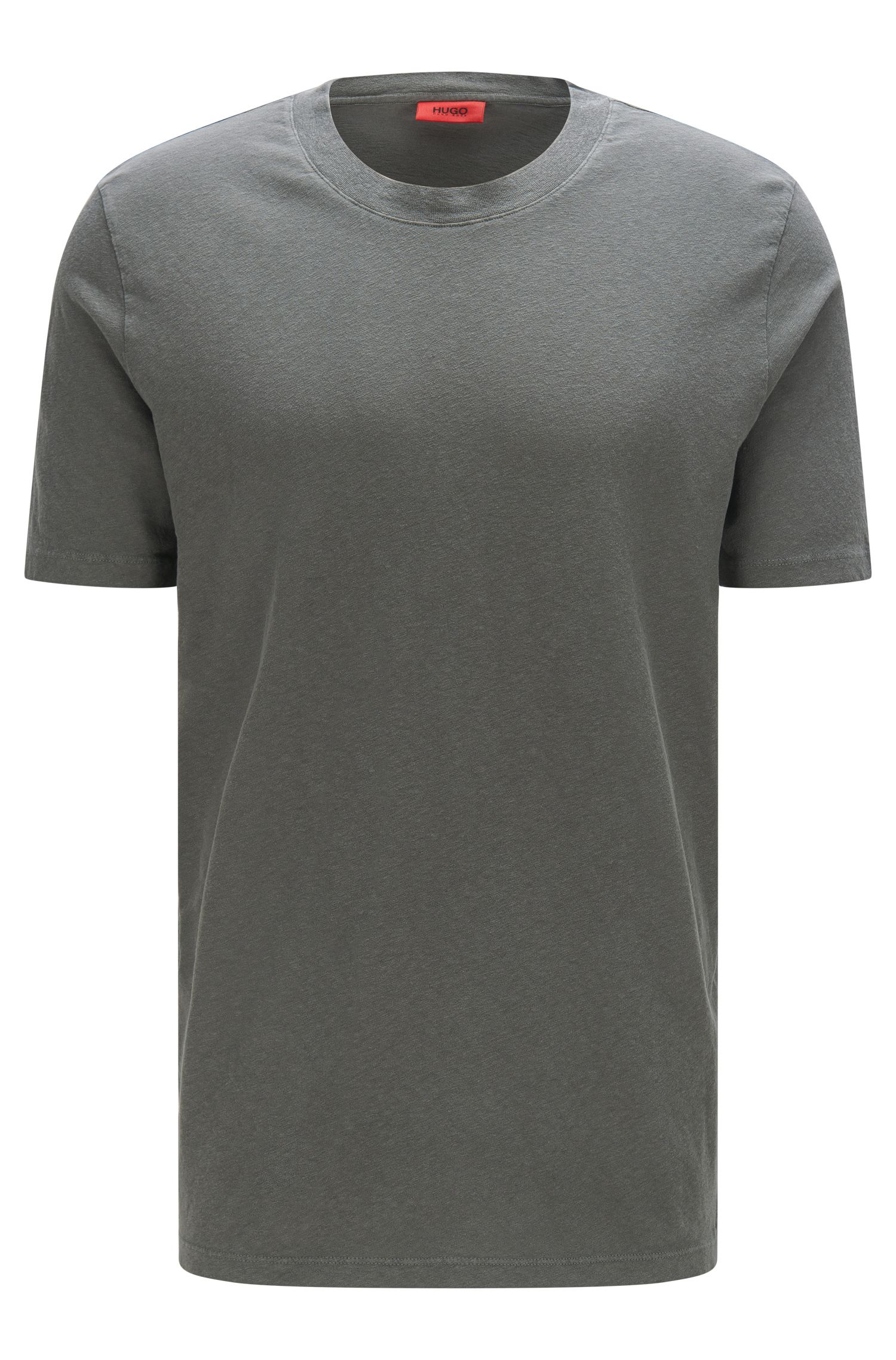 Relaxed-Fit T-Shirt aus Baumwoll-Mix mit Leinen: 'Dremont'