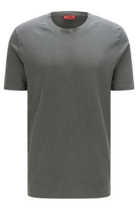 Relaxed-Fit T-Shirt aus Baumwoll-Mix mit Leinen: 'Dremont', Dunkelgrau