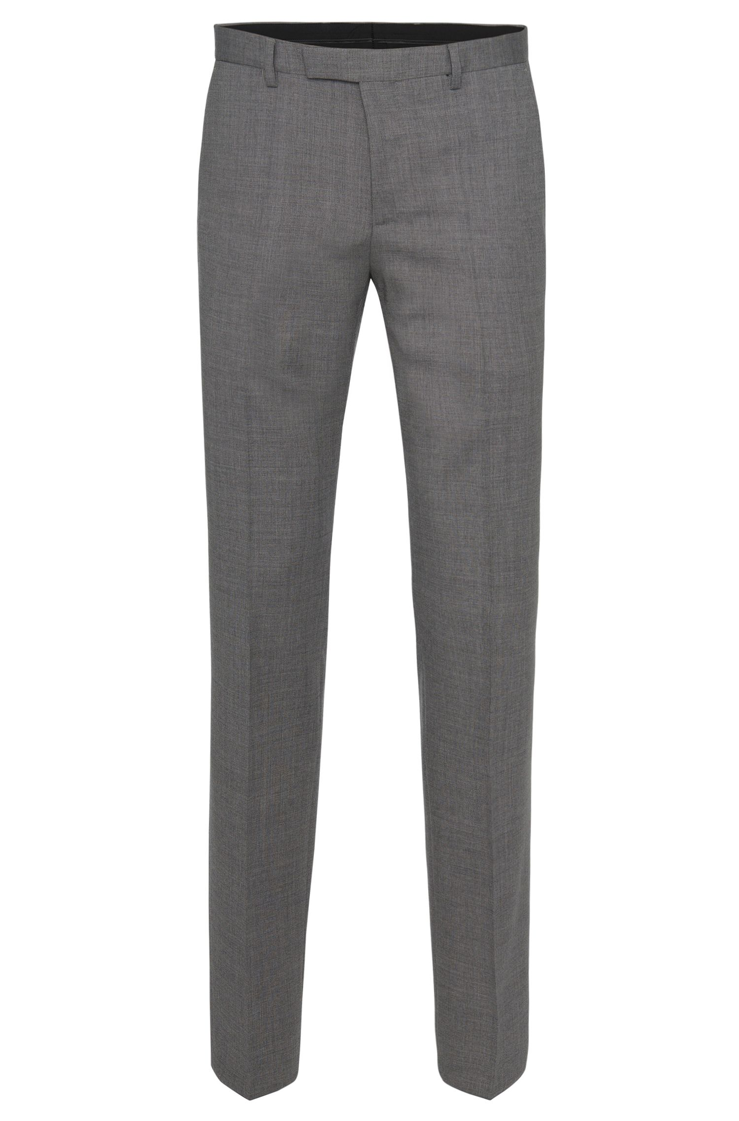 Pantalón regular fit en pura lana virgen con textura fina: 'Lightning1'