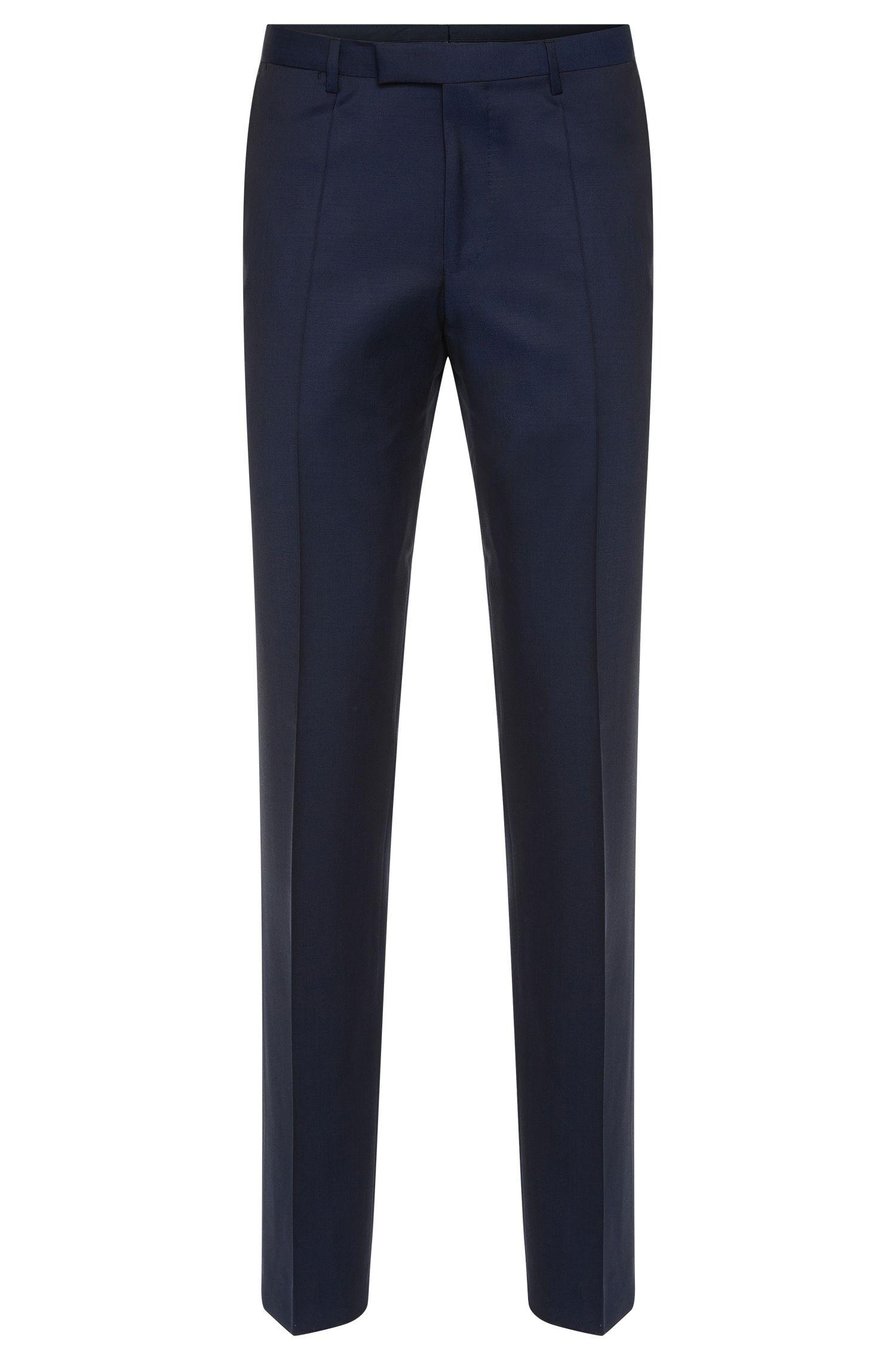 Pantalon Regular Fit à plis marqués, en laine vierge: «Lightning1»