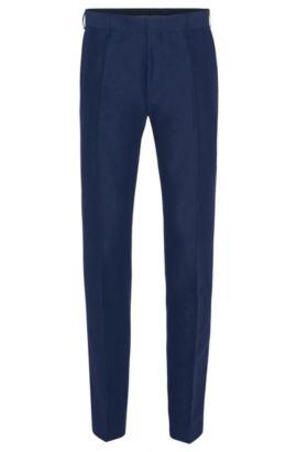 Slim-fit broek van een linnenmix met katoen: 'Genesis2', Blauw