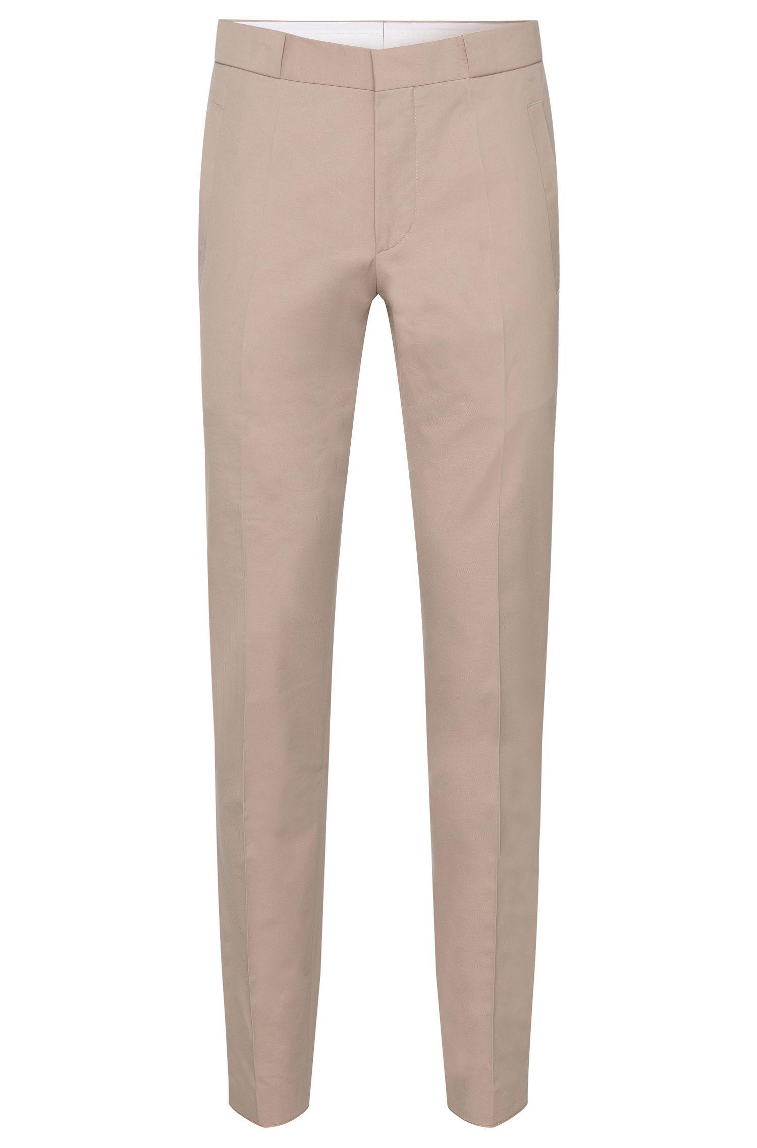 Pantalon Slim Fit en coton mélangé à larges passants: «Braydon»