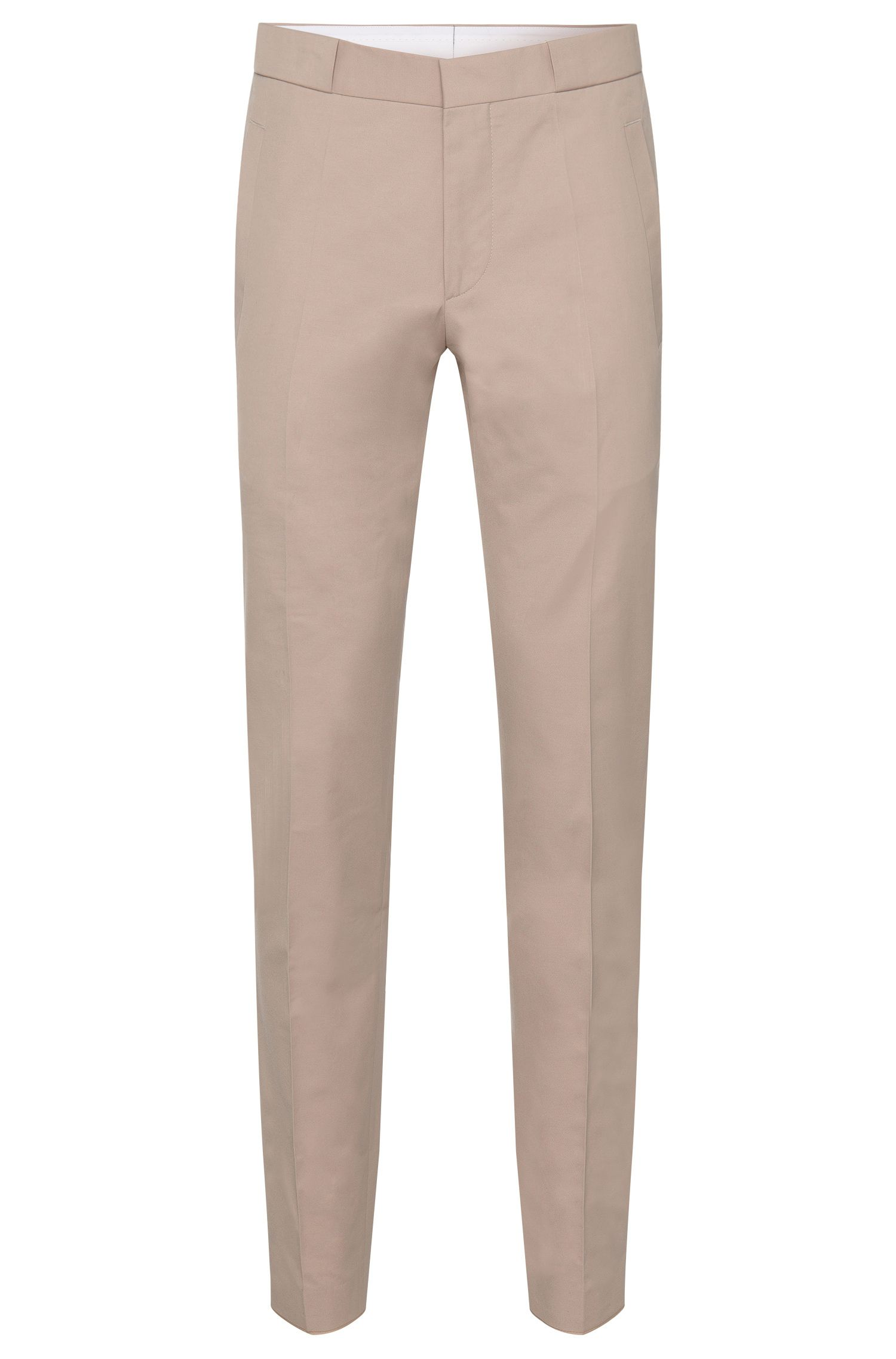Slim-fit trousers in cotton blend with wide belt loops: 'Braydon'