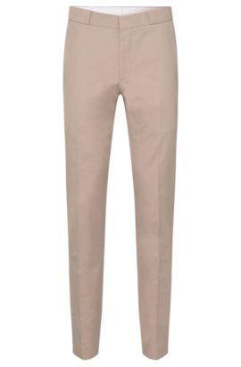 Slim-Fit Hose aus Baumwoll-Mix mit breiten Gürtelschlaufen: 'Braydon', Hellbeige