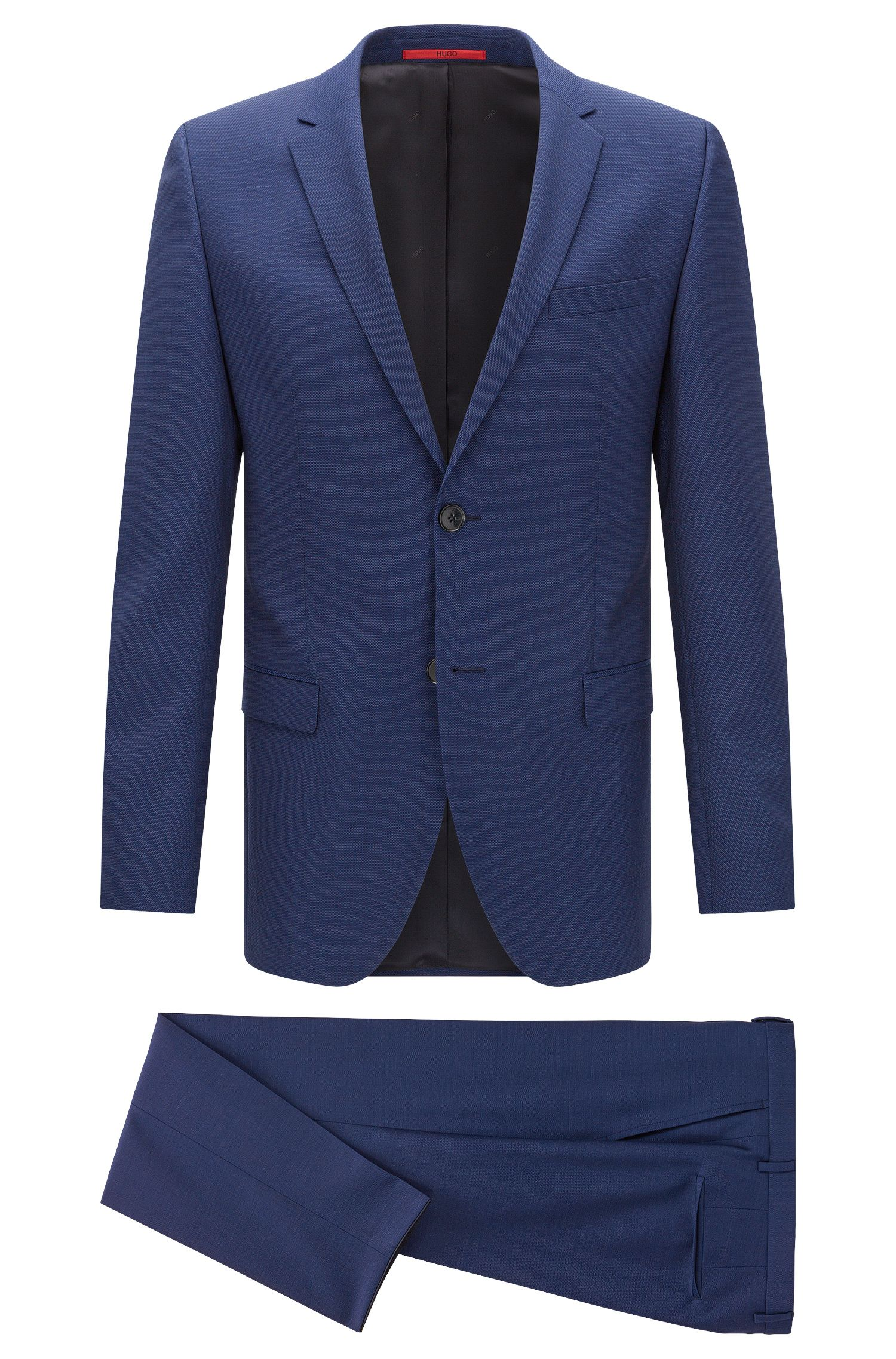 Slim-fit suit in textured new wool: 'Anlon/Hets'