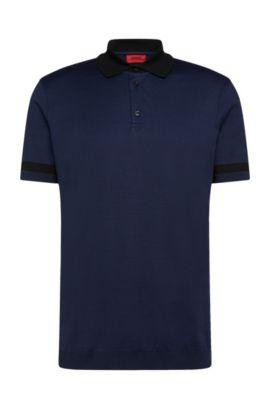 Regular-Fit Poloshirt aus Stretch-Baumwolle: 'Dharp', Dunkelblau
