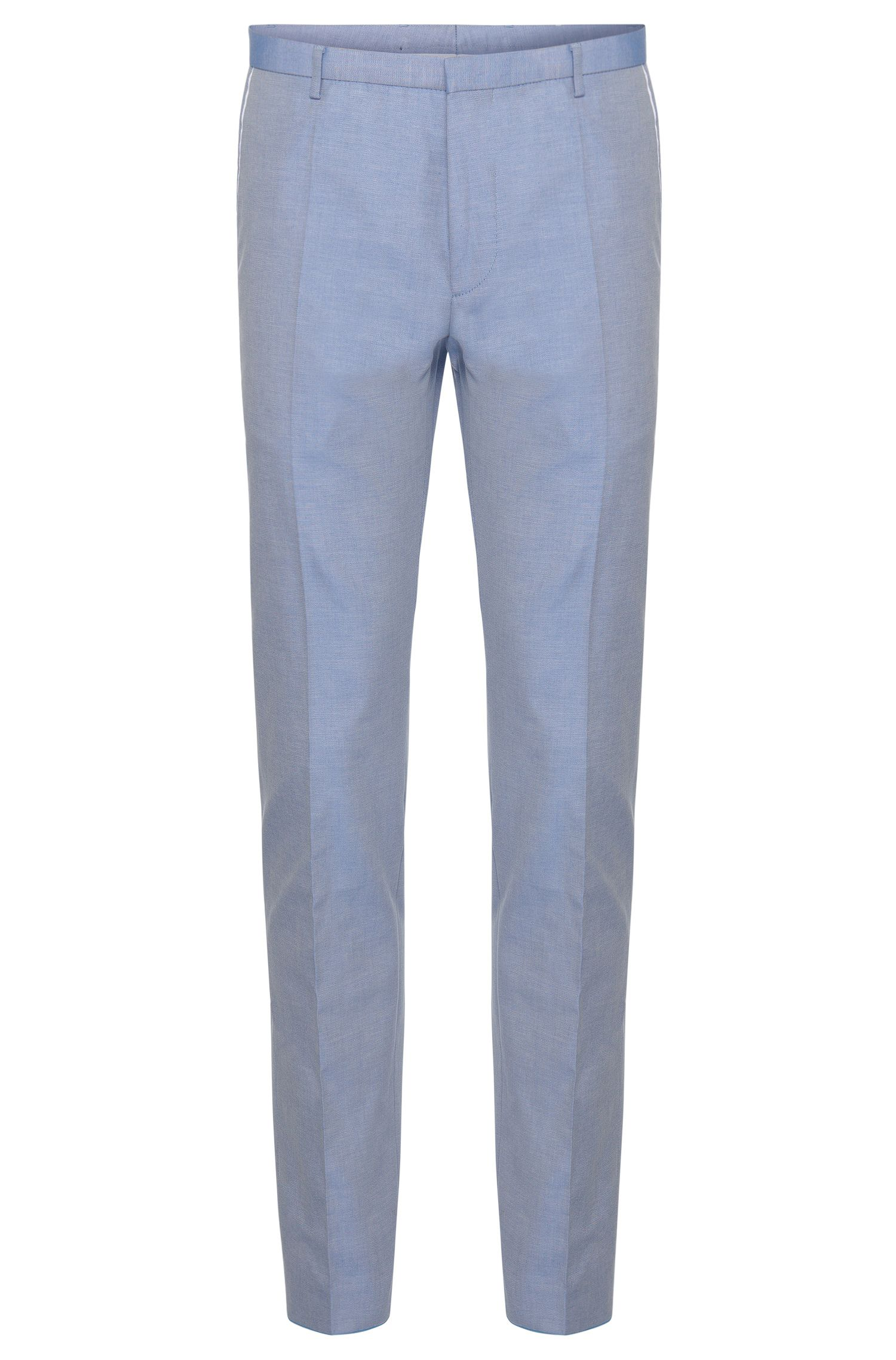 Extra slim-fit trousers in cotton with piping in a contrasting colour: 'Weldon'
