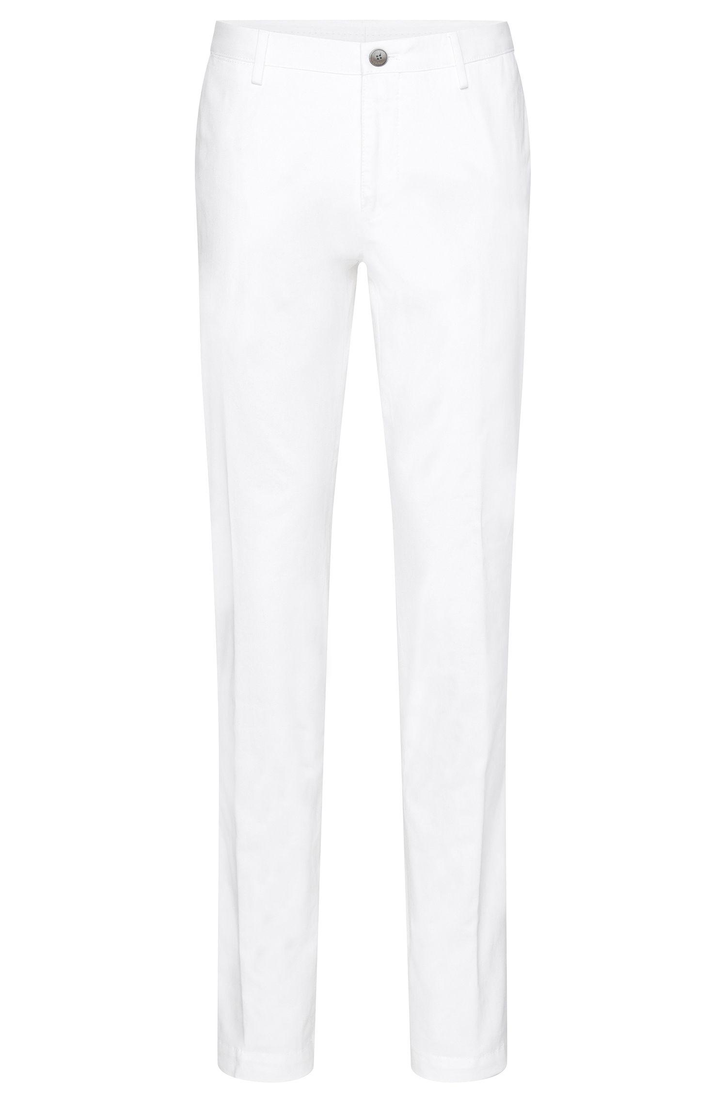 Chino slim fit in cotone elasticizzato: 'Stanino 16-W'