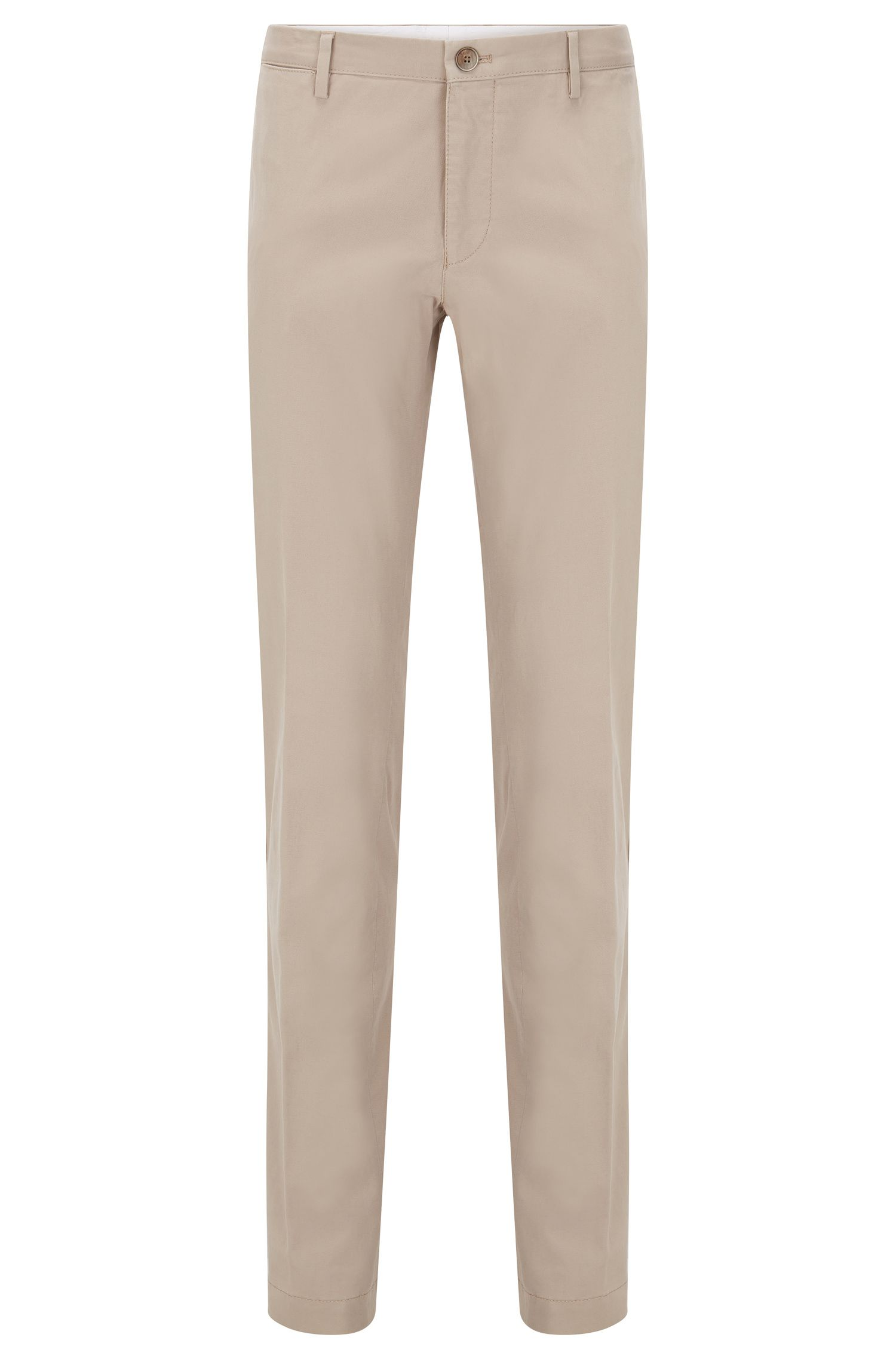 Slim-fit chinos in stretch cotton: 'Stanino 16-W'