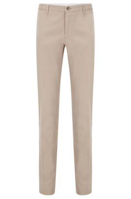 Chino Slim Fit en coton extensible: «Stanino 16-W», Beige clair