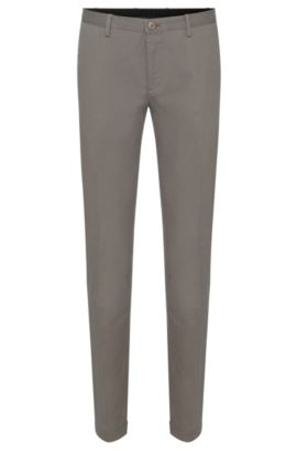 Chino Slim Fit en coton extensible : « Stanino 16-W », Vert sombre