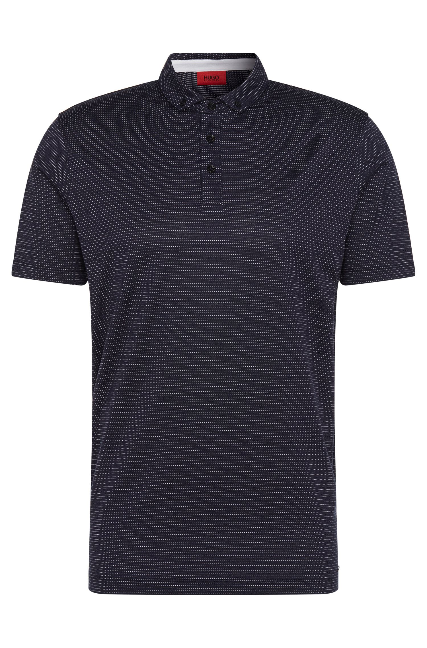 Patterned regular-fit polo shirt in cotton: 'Dackard'
