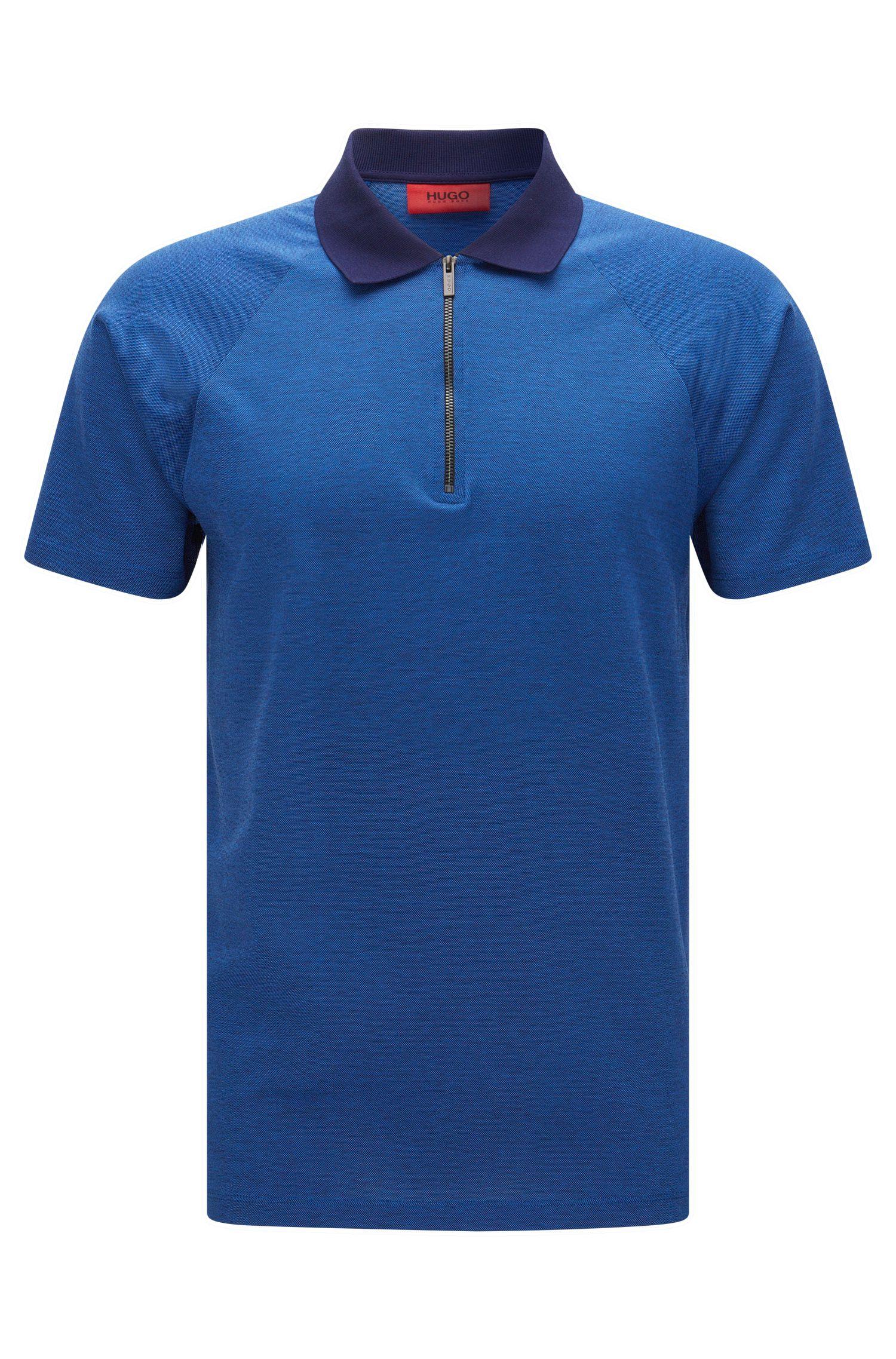 Fein strukturiertes Slim-Fit Poloshirt aus Baumwolle: 'Dericsson'