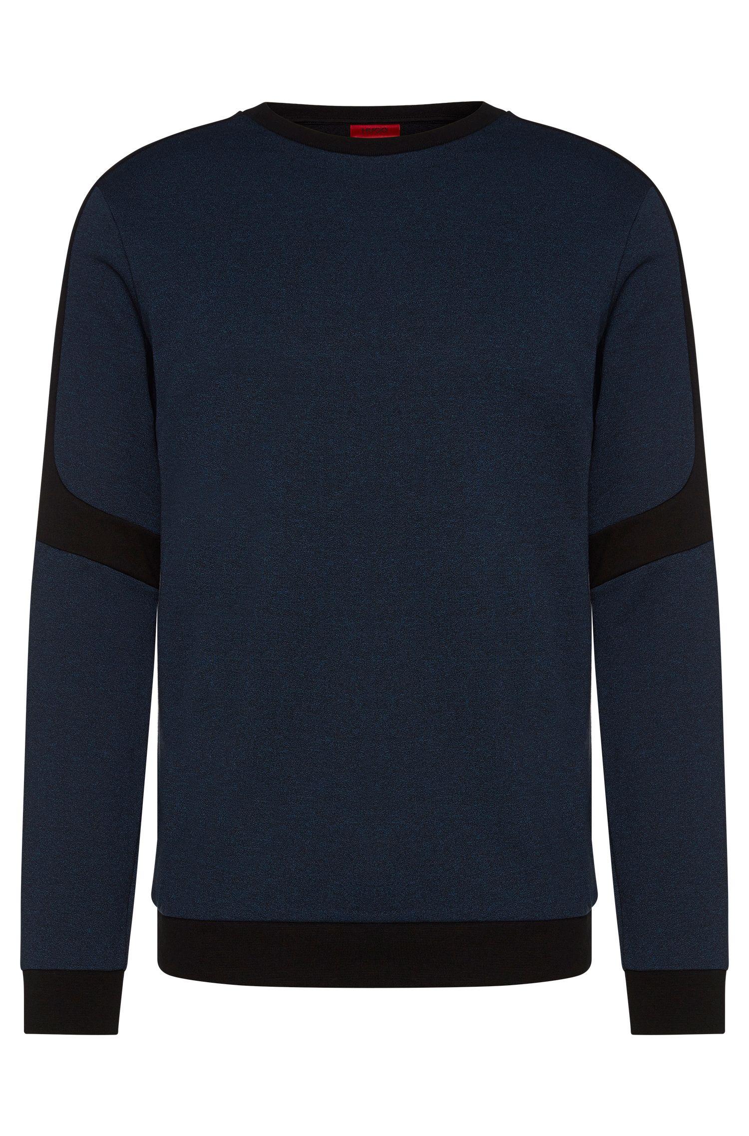 Relaxed-fit sweatshirt van een katoenmix met contrastkleurige inzetten: 'Dunion'