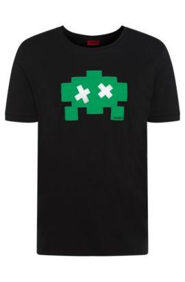 Relaxed-fit T-shirt van katoen: 'Dayward', Zwart