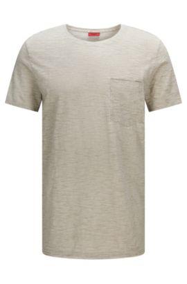 Gemêleerd, relaxed-fit T-shirt van katoen met borstzak: 'Dadobe', Grijs