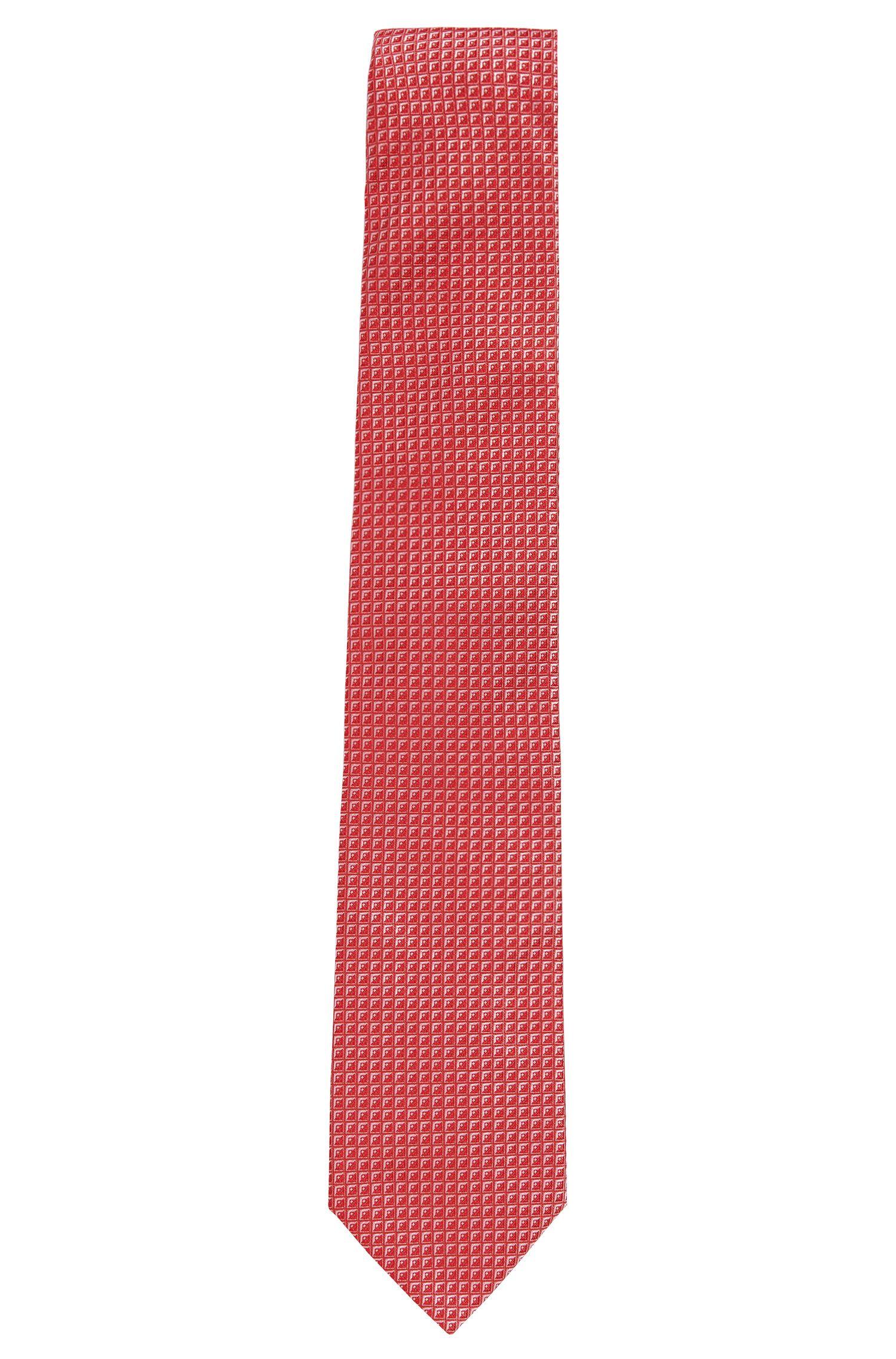 Gemusterte Seidenkrawatte: 'Tie 7,5 cm'